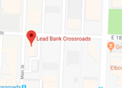 Map view of Lead Bank community bank in Kansas City