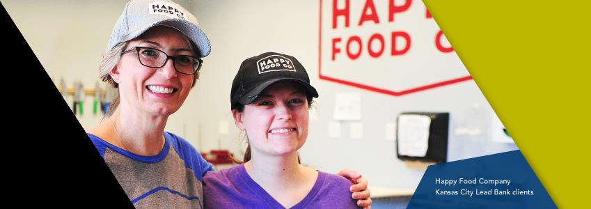 Happy Food Company Kansas City community Lead Bank clients