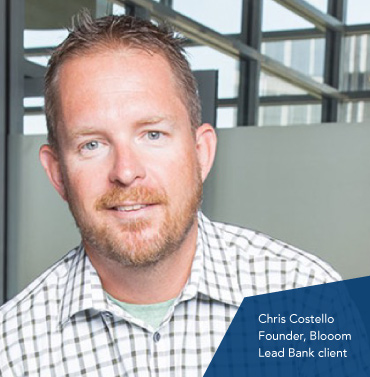Chris Costello, Blooom Founder, a Lead Bank Kansas City community client